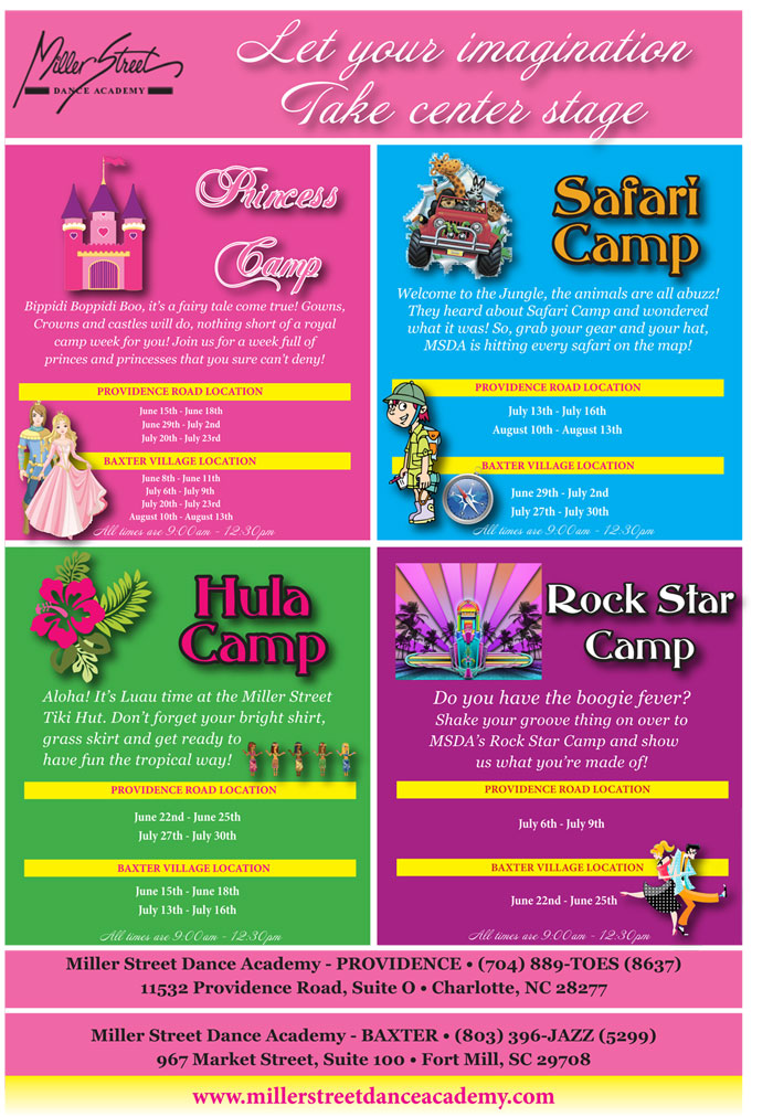 Dance Camps   Charlotte, NC   Miller Street Dance Academy